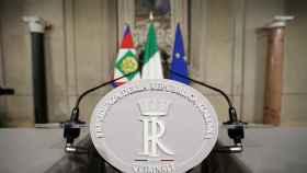 Atril del presidente de la República italiana