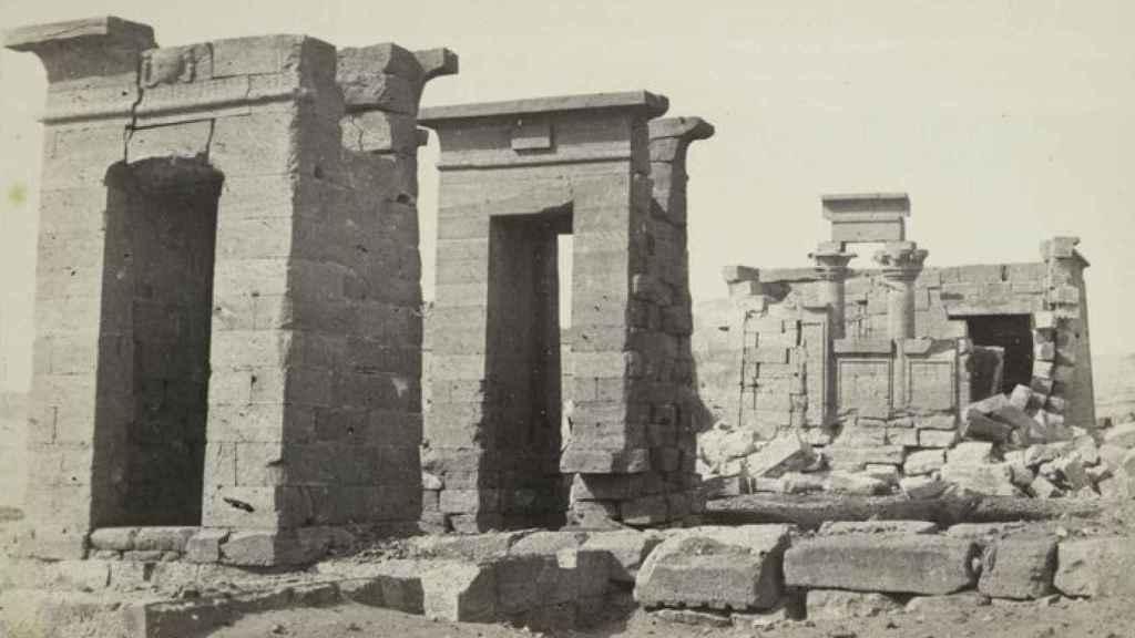 Emplazamiento original del Templo de Debod, en 1862.