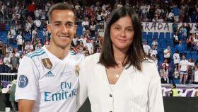 Lucas Vázquez y Macarena Rodríguez en la final de la Champions.