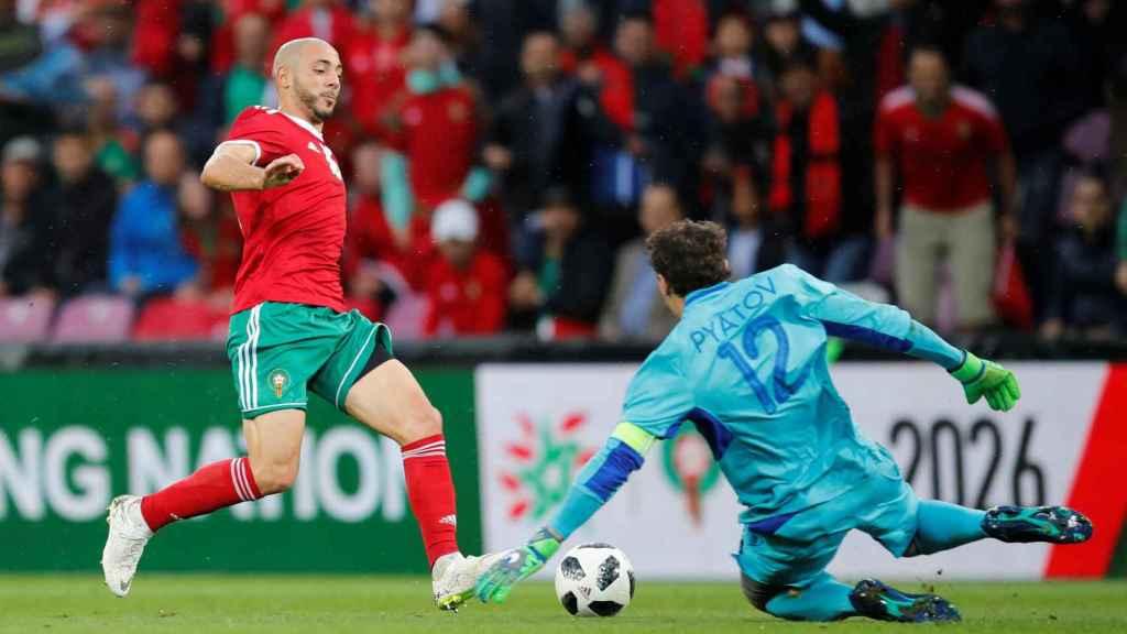 Amrabat fue uno de los mejores jugadores de Marruecos este jueves.