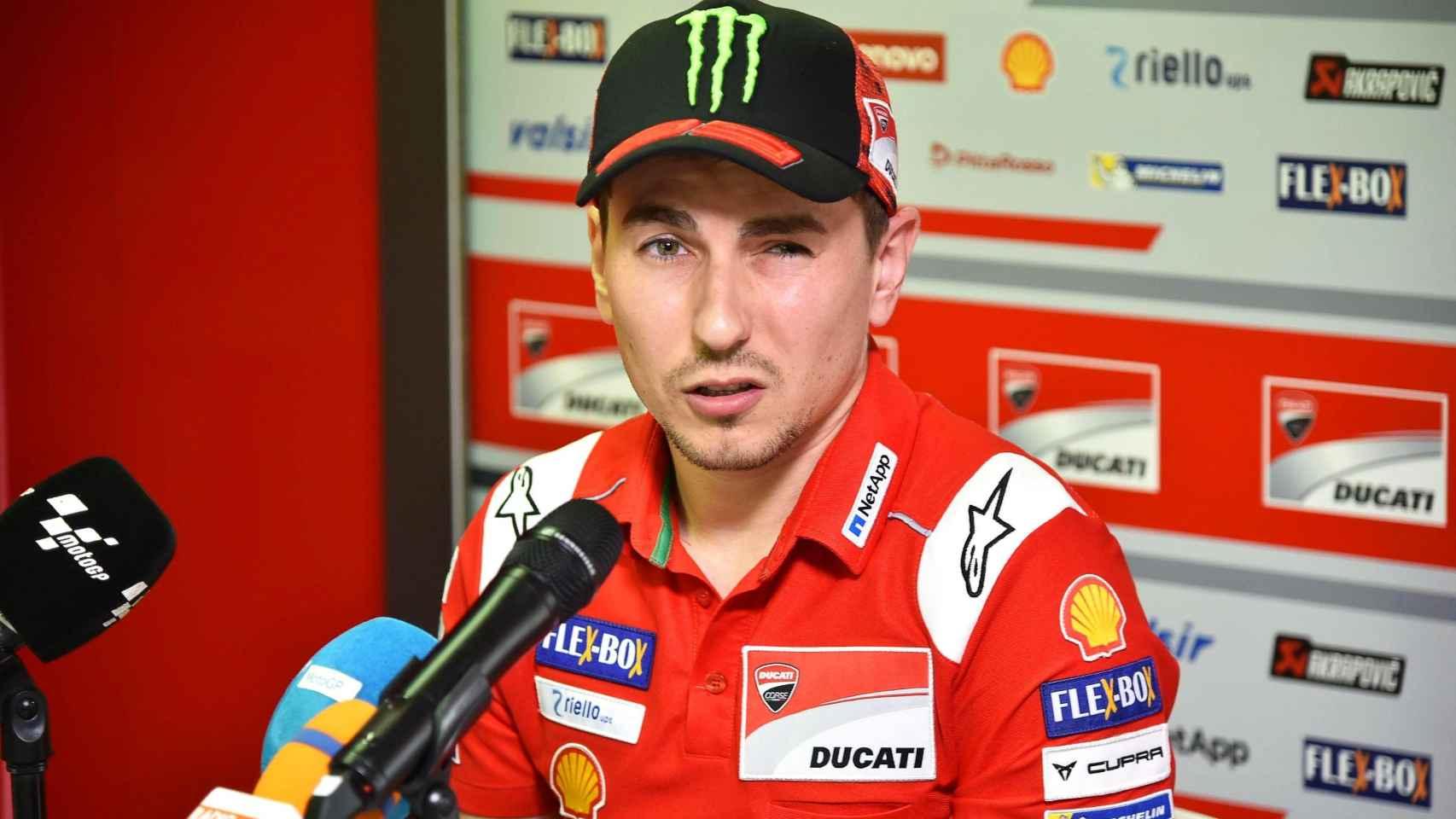 Jorge Lorenzo durante la rueda de prensa en Mugello.