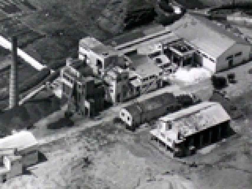 Panorámica de la primera fábrica de Saica.