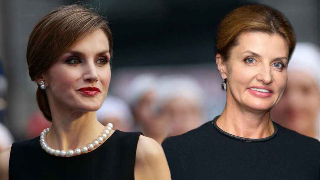 La reina Letizia y Maryna Poroshenko.