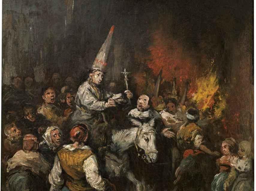Condenado por la Inquisición, una obra de Eugenio Lucas.
