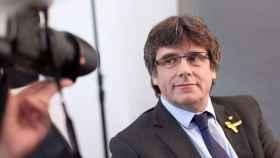 Puigdemont, en una reunión con la prensa extranjera en Alemania./