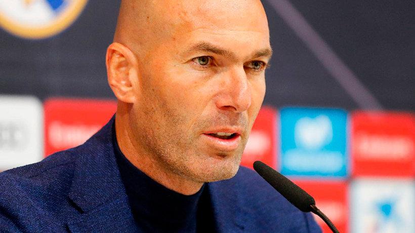 Zinedine Zidane, en su última rueda de prensa en el Real Madrid