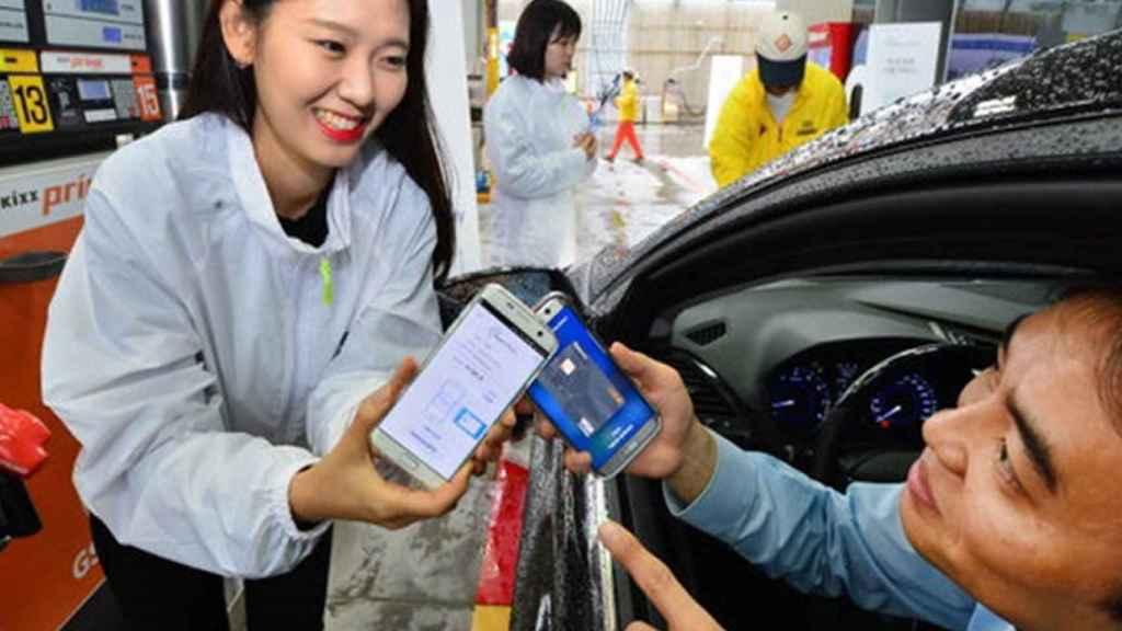 gasolinera pagos moviles samsung pay