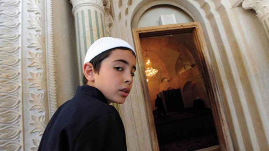 Un niño druso en una foto de archivo