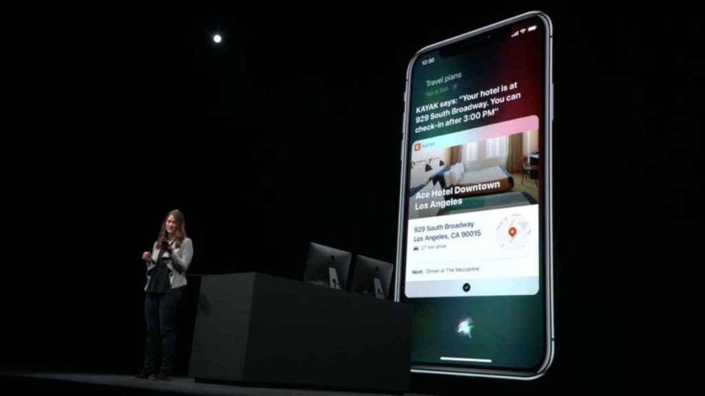 Siri en iOS.