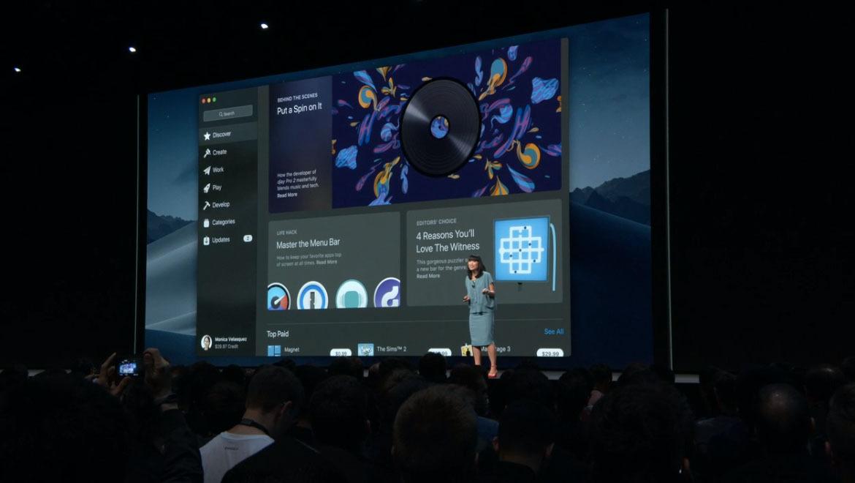 nuevo diseño apple app mac store macos mojave