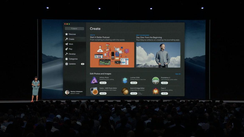 nuevo diseño apple app mac store macos mojave recomendaciones