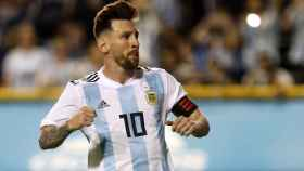 Leo Messi, durante un partido con Argentina.