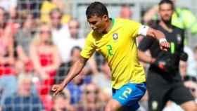 Thiago Silva con Brasil. Foto Instagram (@thiagosilva_33)