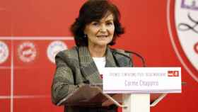Carmen Calvo en un congreso del PSOE.