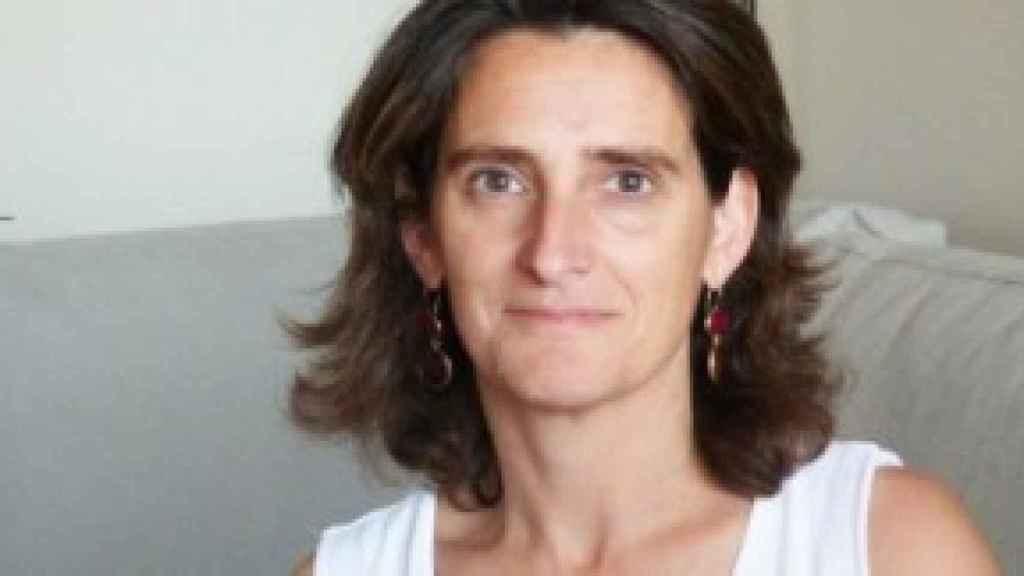 Teresa Ribera posando ante la cámara.