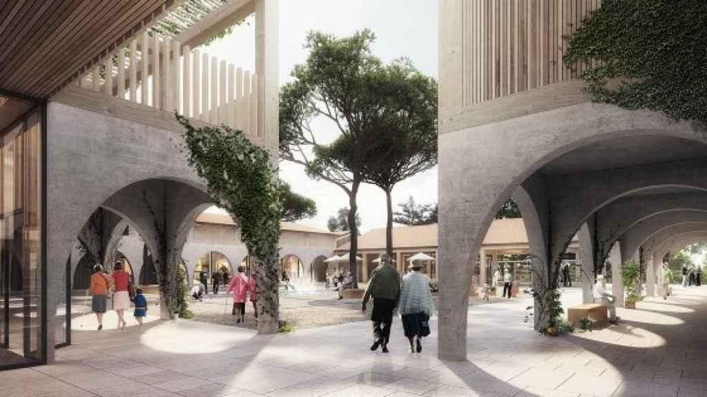 Sus creadores quieren que la villa tenga un aspecto medieval para integrarse en la comarca.