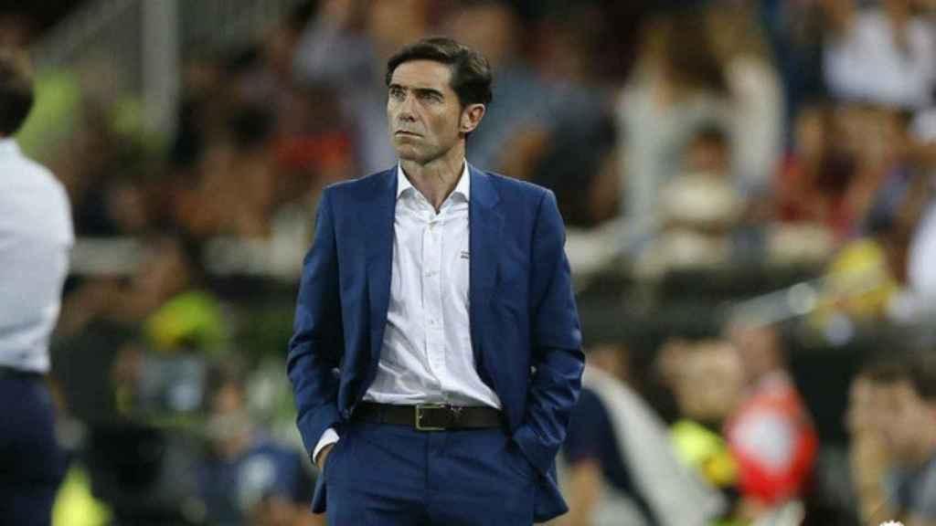 Marcelino, entrenador del Valencia. Foto: valenciacf.com