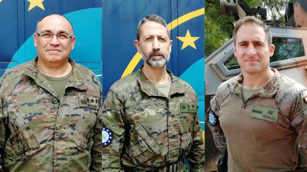 El coronel Urteaga, el teniente coronel Billón y el cabo primero Pedraza.