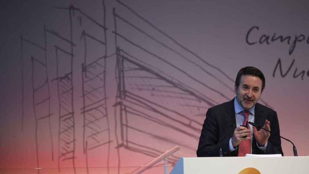 Josu Jon Imaz, consejero delegado de Repsol, durante la presentación del plan estratégico.