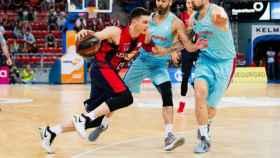 Matt Janning durante el Baskonia - Barcelona de ACB.