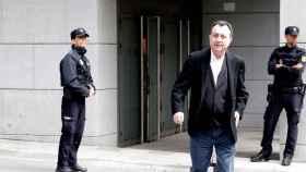 El exconsejero madrileño Manuel Cobo, a su salida de la Audiencia Nacional.