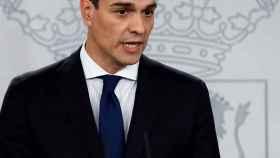Pedro Sánchez, presidente del Gobierno, durante el anuncio de su gabinete.
