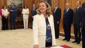 Nadia Calviño en la jura del cargo.