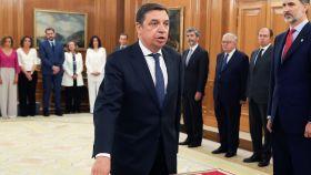 Luis Planas durante la jura del cargo.