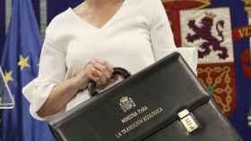 La ministra de Transición Ecológica, Teresa Ribero, tras recibir su nueva cartera.