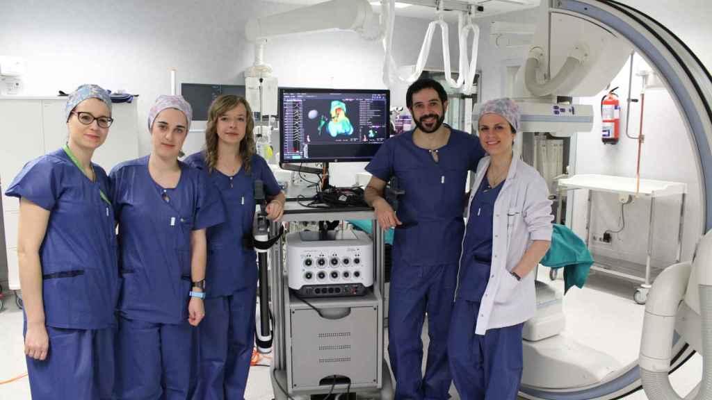 El navegador electroanatómico que mejora el diagnóstico y la localización de arritmias complejas del Hospital Universitario Rey Juan Carlos (Móstoles).