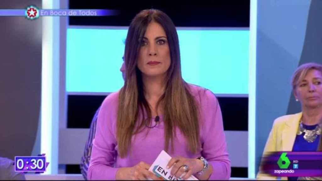 Alicia Senovilla durante su programa en Telemadrid.