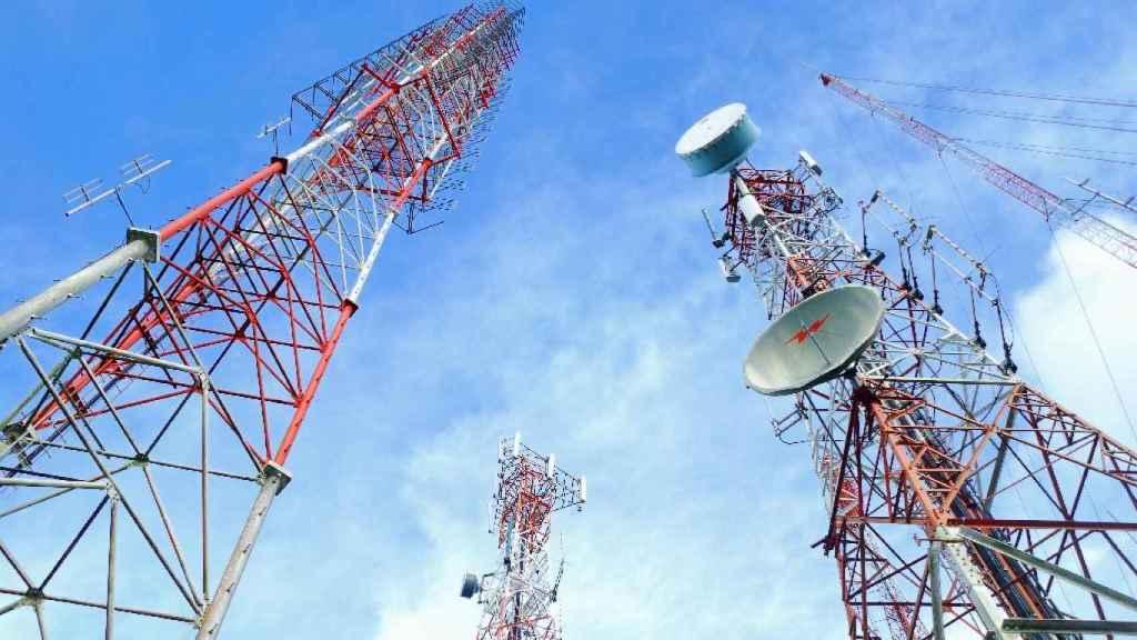 Antenas de radio en una imagen de archivo