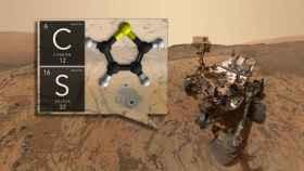 Ilustración del hallazgo por parte del rover Curiosity.