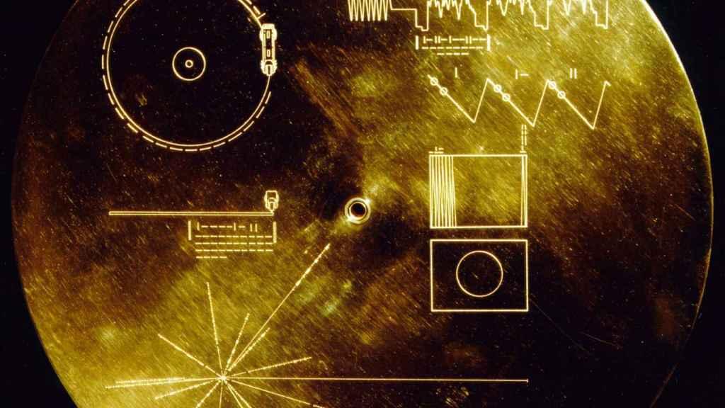 Portada del disco 'Sonidos de la Tierra', en la sonda Voyager.