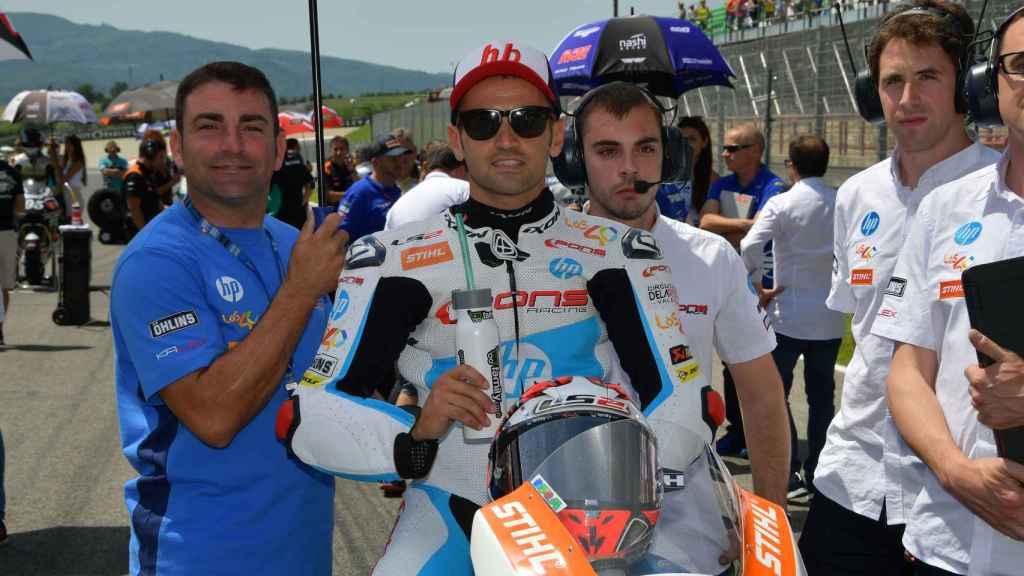Héctor Barberá, el pasado domingo, en la parrilla de salida del GP de Italia.