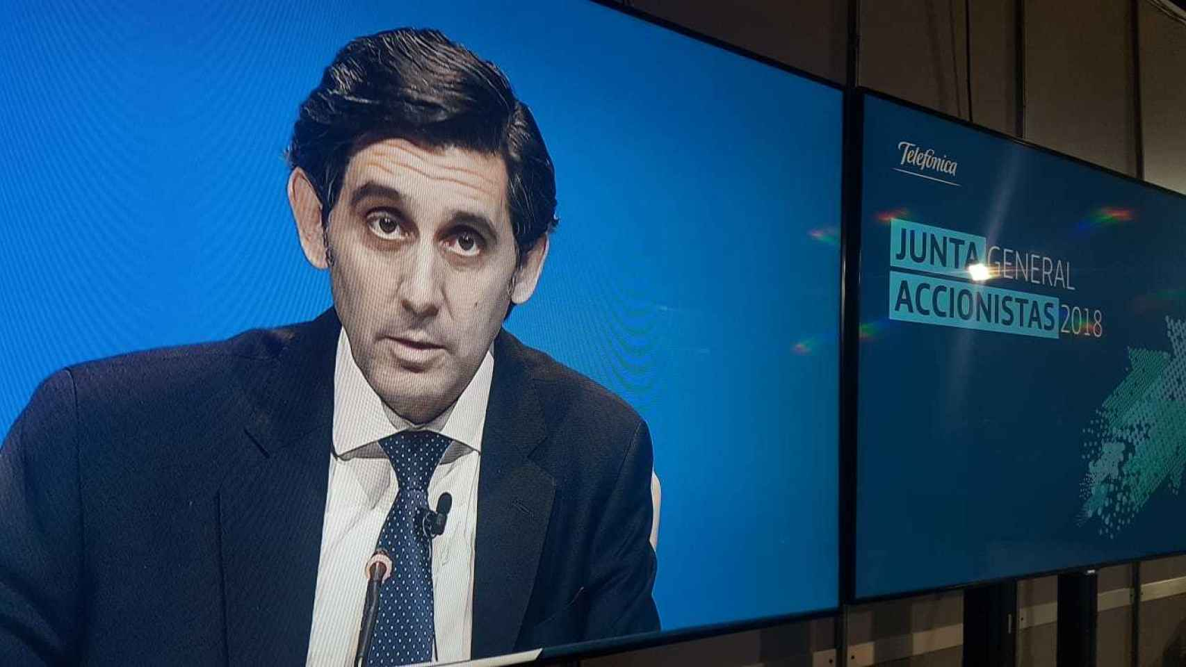 José María Álvarez Pallete, presidente ejecutivo de Telefónica,  en una imagen de archivo.