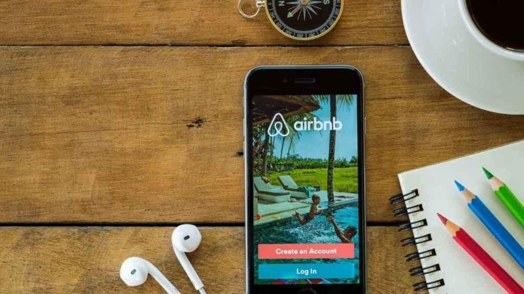 Imagen de la app de Airbnb.