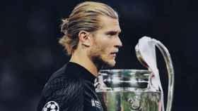Karius, en la final contra el Real Madrid