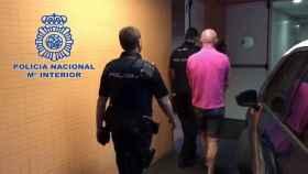 El detenido con la Policía Nacional