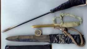 Algunas de las armas artesanales que se fabrican los presos