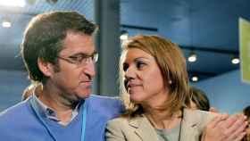 Alberto Núñez Feijóo y María Dolores de Cospedal en una imagen de archivo.