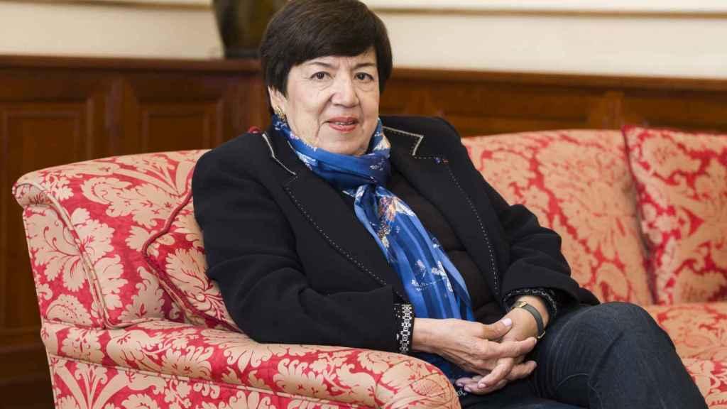 Nubia Múñoz, durante la entrevista.