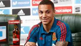 Rodrigo Moreno, en rueda de prensa con la selección española. Foto: sefutbol.com