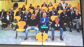 Los acusados del caso Gürtel Valencia en la última sesión del juicio celebrado en la Audiencia Nacional