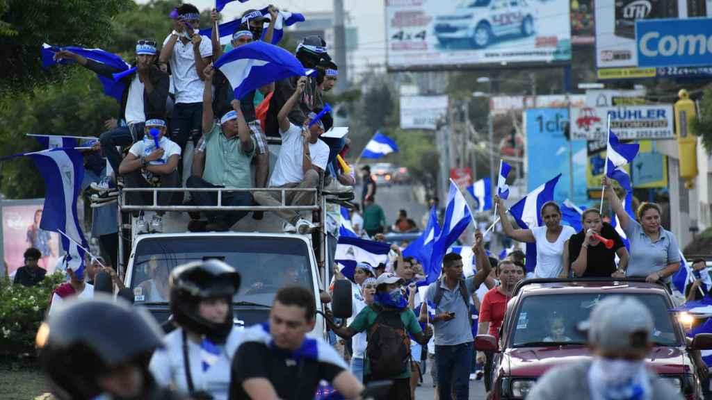 Marchas en Managua, Nicaragua