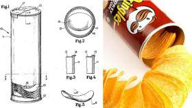 El diseño cilíndrico del bote de Pringles fue ideado por el químico Fredric John Baur.