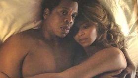 Beyoncé y Jay Z en una de las imágenes.