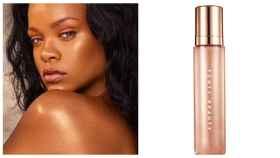 Rihanna junto al producto iluminador en un fotomontaje de Jaleos.