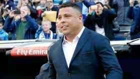Ronaldo Nazario, aclamado en el Bernabéu