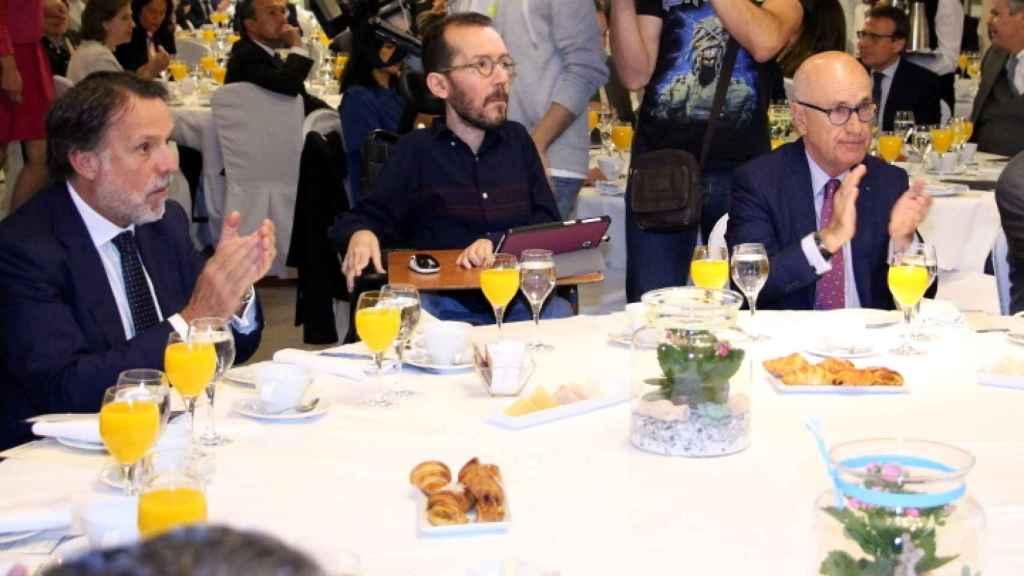 José Creuheras, Pablo Echenique y Josep Antoni Duran i Lleida.